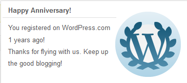 Happy Birthday banner WordPress 1 year